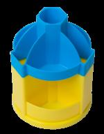 @/Подставка-вертушка канцелярская UKRAINE, 10 отделений, сине-желтая