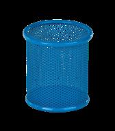 Подставка для ручек круглая 90х90х100мм, металлическая, синий, KIDS Line