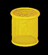 Подставка для ручек круглая 90х90х100мм, металлическая, желтый, KIDS Line