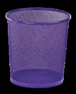 @Корзина для бумаг, 12 л, круглая, металлическая, фиолетовая, KIDS Line