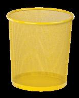 @Корзина для бумаг, 12 л, круглая, металлическая, желтая, KIDS Line
