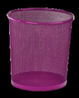 @Корзина для бумаг, 12 л, круглая, металлическая, розовая, KIDS Line