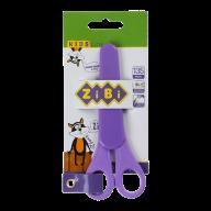 Ножницы детские 135мм, с линейкой, в чехле, фиолетовый, KIDS Line