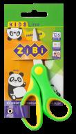 Ножницы детские 126мм, пластиковые ручки с рез. вставками, салатовый, KIDS Line