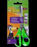 @$Ножницы детские 152 мм с пластиковыми 3D-ручками,  салатовые, KIDS Line