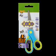 Ножницы детские 152 мм с гибким резиновым кольцом и резиновыми вставками, синие, KIDS Line