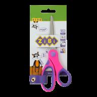 Ножницы детские 152 мм с гибким резиновым кольцом и резиновыми вставками, розовые, KIDS Line