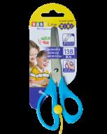 Ножницы детские 138 мм с возвратным механизмом, синий, BABY Line