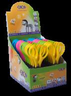 ^Ножницы детские,128 мм, з 3-D ручками, в картонном дисплее, цвета ассорти, KIDS Line