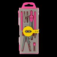 Готовальня BASIS 7 предметов, розовый, KIDS Line
