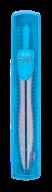 Циркуль START в твердом футляре c линейкой, голубой, KIDS Line
