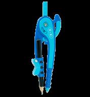 Циркуль пластиковый со шкалой в блистере, фиолетово-голубой, SMART Line