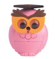 @$Точилка для карандашей СОВУШКА, механическая, розовая пл. коробка, KIDS Line