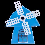 @$Точилка для карандашей МЕЛЬНИЦА, механическая, голубая, пл. коробка