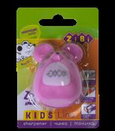@$Точилка МЫШКА, с контейнером, 1 отв. в блист., розовый, KIDS Line