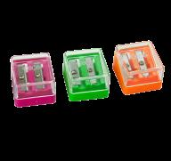 Точилка для карандашей с контейнером, 2 отв., пл. коробка, ассорти, KIDS Line