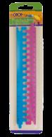 Линейка-пазл пластиковая, 2 части по 20 см, в блистере, синий с розовым, KIDS Line
