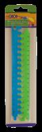 @Линейка-пазл пластиковая, 2 части по 20 см, в блистере, салатовый с синим, KIDS Line