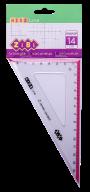 Угольник 140мм, 90°/60°, с розовой полоской, блистер, KIDS Line