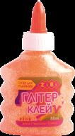 Клей НЕОН ГЛИТТЕР оранжевый на PVA-основе, прозрачный, 88 мл, KIDS Line