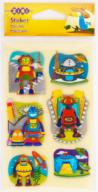 Наклейки 7.6*12.7см Space Robots B