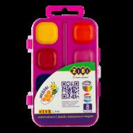 ^Акварельные водорастворимые краски, 8 цветов,пласт. корпус,  розовая. KIDS Line