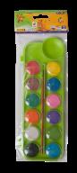 Акварель сухая, 12 цветов, пласт./кор., с кистью, салатовый, KIDS Line