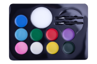 Краски для грима лица и тела КРЕАТИВ, 9 цветов стандарт, 105 г, KIDS Line