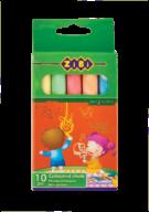 Мел цветной круглый, 10 шт., картонная коробка, KIDS Line