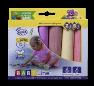 ^/Мел цветной JUMBO круглый, 6 шт., картонная коробка, BABY Line