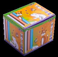 @$Мел белый (80 шт.)+цветной (20 шт.), круглый, карт.коробка, KIDS Line