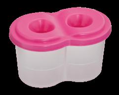 /Стакан-непроливайка двойной, розовый, KIDS Line