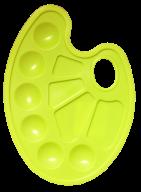 /Палитра для рисования на 10 ячеек, желтая, KIDS Line