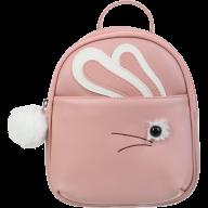 Рюкзак FUR RABBIT, 24x21x8 см, персиковый (декор: иск.мех)
