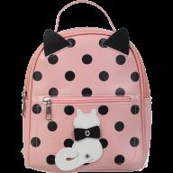 Рюкзак PUSSY CAT, 24x21x9,5 см, розовый (декор: кот с подвижным хвостом)