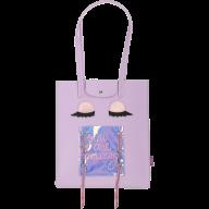 Сумка на плечо EYES, 29x35x3 см, лавандовая (декор:глазки-голограмма)