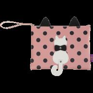Папка А5 PUSSY CAT, 24x28x1,5 см, розовая (декор: кот с подвижным хвостом)