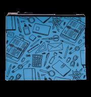 """Папка для тетрадей """"ШКОЛА"""", А5, 24.5x20x1 см, голубая"""