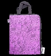 """Папка для тетрадей """"ШКОЛА"""", А4, с двумя ручками, 33x24x1 см, фиолетовая"""