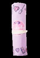 Пенал мягкий РОЛЛ КРАСОТА, 26х19.5 см/18.5х3х3 см, розовый