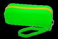Пенал силиконовый МОНОХРОМ, 18х7х5 см, салатовый