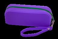 Пенал силиконовый МОНОХРОМ, 18х7х5 см, фиолетовый