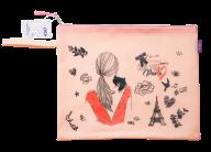 Папка А4 ROMANTIC, 33х26х1см, плотный силикон, розовая