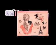 Папка А5 ROMANTIC, 25.5х21х1см, плотный силикон, розовая