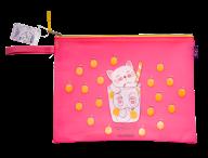 Папка А4 CATKTAIL, 33х26х1см, плотный силикон, розовая