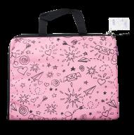 Папка А4 SCHOOL, 33x25x1 см, горизонт., 2 ручки, коттон и полиэстер, розовая