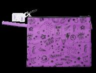 Папка А4 SCHOOL, 33x24x1 см, коттон и полиэстер, фиолетовая