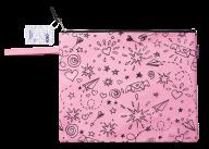 Папка А4 SCHOOL, 33x24x1 см, коттон и полиэстер, розовая
