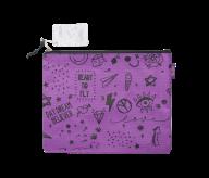 Папка А5 SCHOOL, 24.5x20x1 см, коттон и полиэстер, фиолетовая