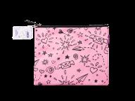 Папка А5 SCHOOL, 24.5x20x1 см, коттон и полиэстер, розовая